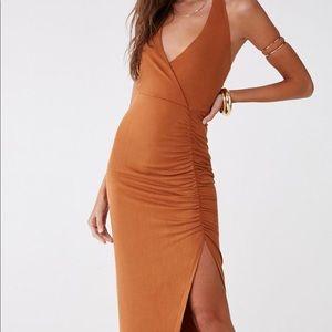 NWT❗️Copper Asymmetrical halter maxi dress